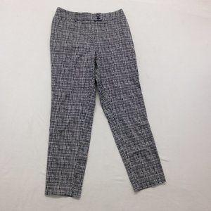 Cleo Women's Size 8 Black White Plaid Ankle Pants